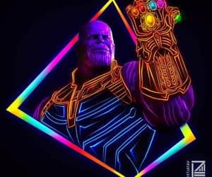 comics, neon, and Marvel image