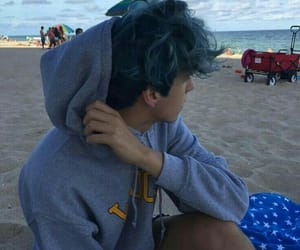 boy, beach, and blue image