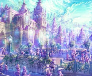 anime, citadel, and fantasy world image