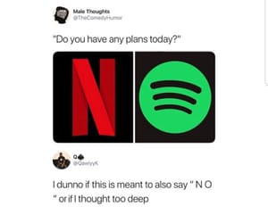 funny, spotify, and netflix image