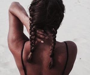 beach, braids, and nails image