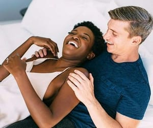 black and white, dating, and interracial image