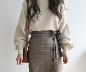 fashion, korean fashion, and outfit image