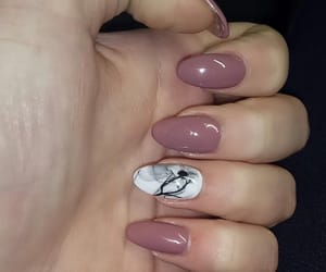 brown, rose, and manicure image