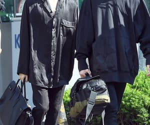 handsome, all black, and yoonkook image