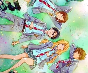 anime girls, anime boys, and shigatsu wa kimi no uso image