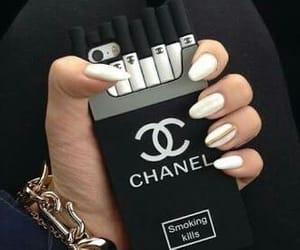 black, cigarette, and fancy image