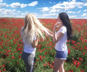 girls, long hair, and russia image