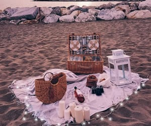 beach, picnic, and date image