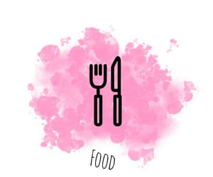 food, pink, and water coloring image