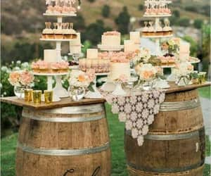 cake, flowers, and candy image