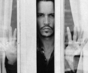 johnny depp, johnny, and black and white image