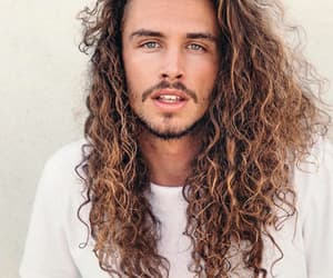 boys, curly hair, and long hair image