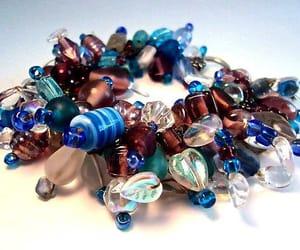 art glass, charm bracelet, and renaissance fair image