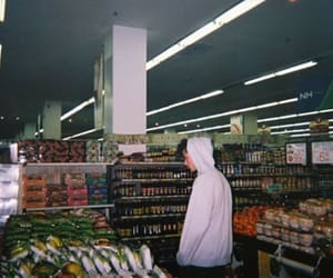 boy, supermarket, and grunge image