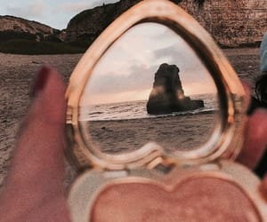 beach, mirror, and aesthetic image