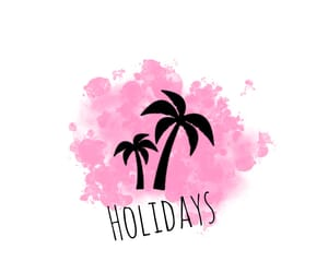 holiday, palm, and pink image