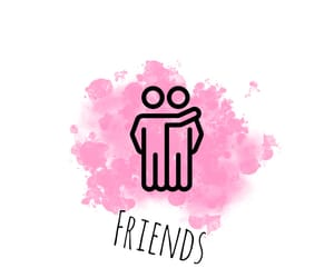 pink, friends, and insta image