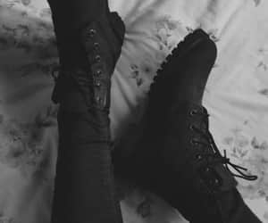 ankleboots, feed, and black image