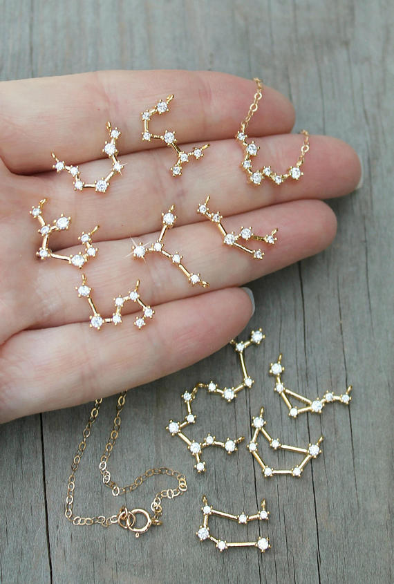 constellation, jewelry, and necklace image