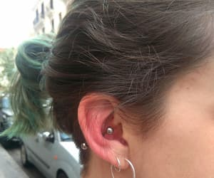 conch, conch piercing, and piercing image