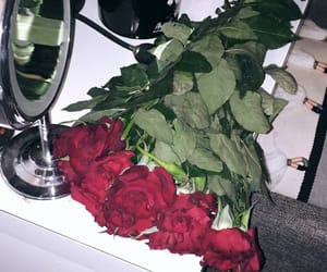 flowers, gift, and red image