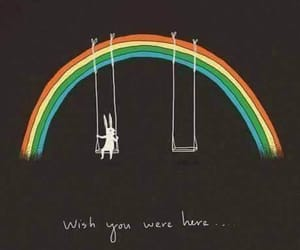 rainbow, wish, and Pink Floyd image