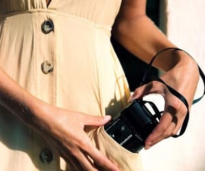 camera, dress, and style image