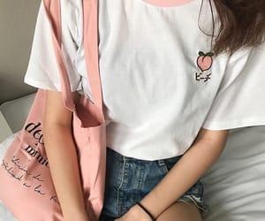 girl, fashion, and peach image
