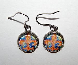 art jewelry, gift for her, and impressionist art image