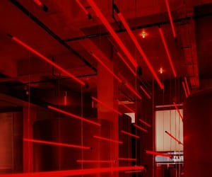 red, aesthetic, and lights image