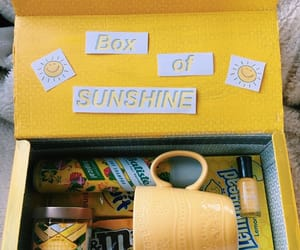 yellow, box, and aesthetic image