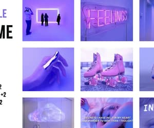 filters, neon signs, and purple image