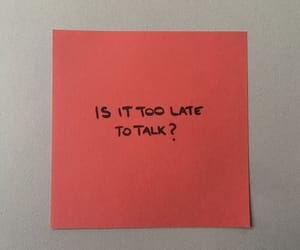 post-it, quotes, and red image