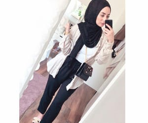hijab, style, and فاشون image