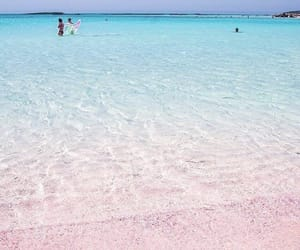 beach, explore, and pink image