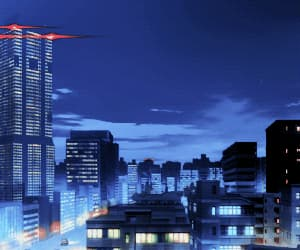 anime, city, and night image