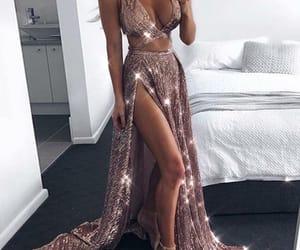 dress, fashion, and glitters image