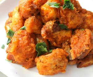 cauliflower, buffalo wings, and food image