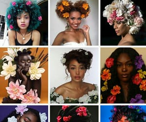 beautiful, brown, and flowers image