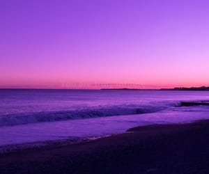 beach, pink, and purple image
