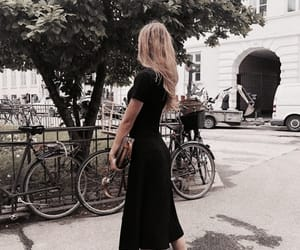 black, streets, and dress image