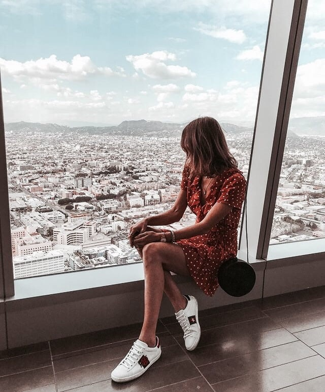 city, view, and dress image