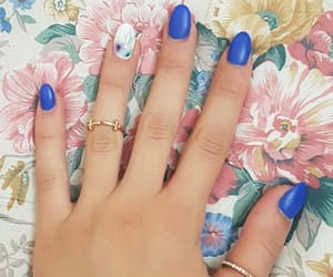beauty, bellezza, and blue nails image