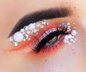 eyeshadow, girl, and glitter image
