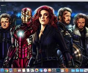 black widow, captain america, and iron man image