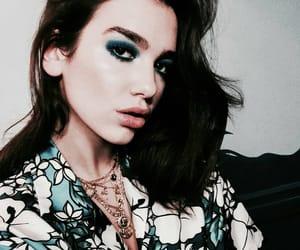 dua lipa, blue, and style image