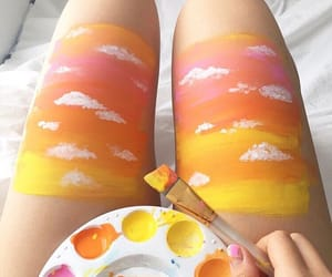 art, clouds, and legs image