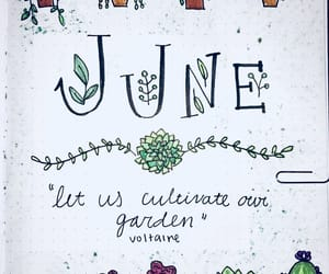 green, journaling, and june image