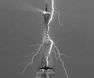 paris, eiffel tower, and black and white image